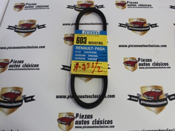 Correa 637x12,5mm Pirelli 603 Renault-Fasa, 4CV, Dauphine, Gordini y Ordine