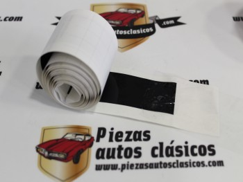 Adhesivo Negro Paragolpes Delantero o Trasero 2CV, Dyane Altura 30mm.