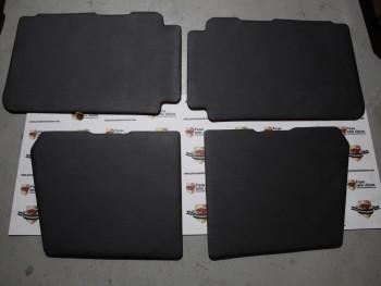 Juego 4 Paneles Tapizados Puerta Vinilo Negro Citroën 2CV