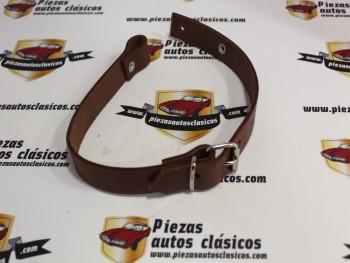 Correa rueda de repuesto Seat 600 marrón