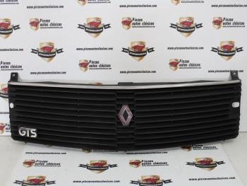 Rejilla delantera Renault 18 GTS con anagrama y con agujeros brazo limpia faros