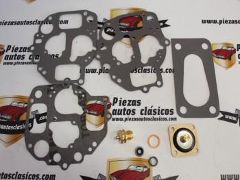 Kit Reparación Carburador Doble Cuerpo Solex Citroën 2CV Sin Chiclés