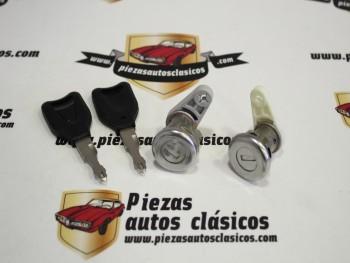 Juego de Bombines Cerradura Delantera Renault Super 5, 21, Clio I, Express y Twingo Ref: Valeo 252342