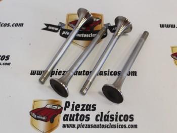 Juego Válvulas Escape Simca 900, 1000 GL/GLS Rally y 1200 GL/GLE Motor 349 Ref: 1901 ( 27,7x8x107,4 )