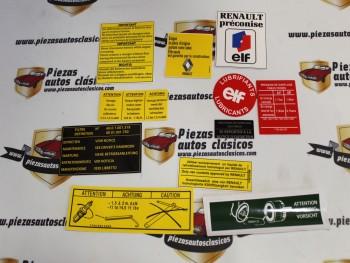 Kit Pegatinas Vano motor Renault 5 Alpine y Alpine Turbo