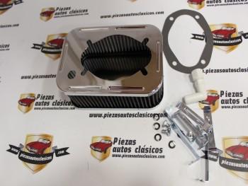 Filtro Universal Carburador Weber 32/36 Seat 124, 131... y Renault 5 TS, 8 TS, 12 TS.... ( 67x172x115mm )