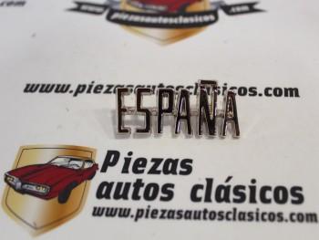 Anagrama Metálico Cromado ESPAÑA Renault 4, 5, 6, 8, 8, 10, 12 y Alpine A110