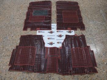 Juego alfombrillas goma rojo/negro Seat 131 Supermirafiori
