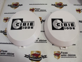 Juego 2 Tapas Cibie Para Faro Super Oscar Diámetro 210mm ( letras en relieve )
