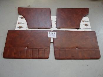 Juego Tapizado De Puertas Marrón Tabaco Seat 127 4p. (Antiguo Stock)