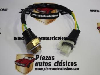 Termocontacto ventilador 92º-82º rosca 22x1,5 (mod.2) Renault Súper 5, 9, 11, 19, 21... con cable conector 320mm