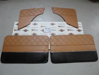 Juego Tapizado De Puertas Seat 850 2p. Beig/Negro (Antiguo Stock) puede presentar Algun Desperfecto Leve