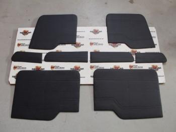 Juego Tapizado De Puertas Negro Renault 8 (Antiguo Stock)