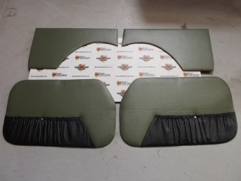 Juego Tapizado De puertas Verde/Negro Seat 600 D