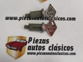 Pareja bombín de cerradura Renault 4, 6 y 12 moderno y R5 desde 07/74 hasta 03/77 (misma llave)