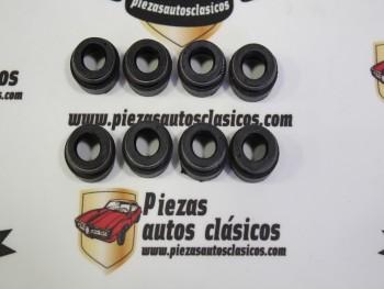 kit 8 retenes de válvula Seat 124, 1430, 1600, 1800, 2000 y Ritmo 7mm