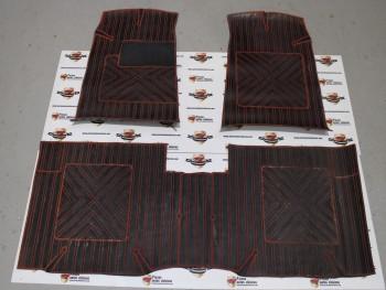 Juego alfombrillas de goma rojo/negro Seat 131 (antiguo stock, pueden presentar algun defecto leve) mod.2