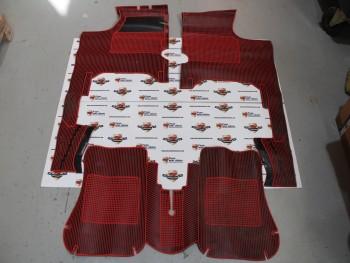 Juego de alfombrillas de goma rojo/negro Renault Gordini, Dauphine y Ondine (antiguo stock) con tara, ver fotos