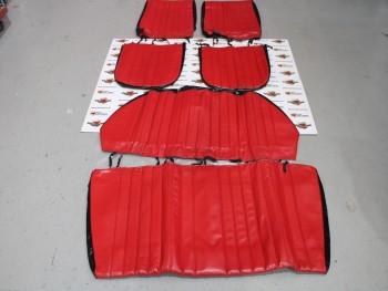 Juego fundas de asientos rojo/negro renault Gordini, Ondine, Dauphine
