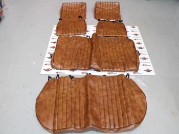 Juego fundas de asientos marrón Seat 127 4 puertas