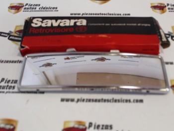 Espejo retrovisor interior cromado panorámico Savara universal