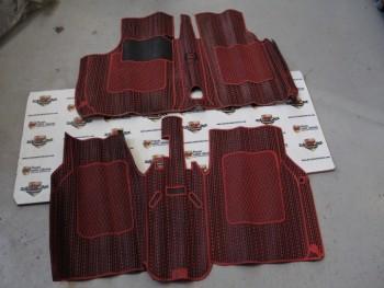 Juego Alfombrillas de Goma Rojo/negro Simca 1000 (Antiguo Stock)