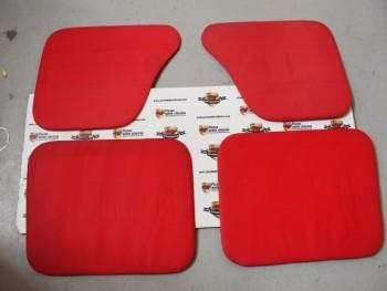 Juego paneles tapizados rojo Simca 1000 antiguo stock