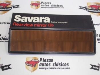 Espejo retrovisor interior negro panorámico Savara universal