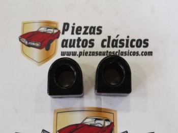 Pareja Gomas Estabilizadora 16mm. Renault 4, 5, 6, 7... De Poliuretano Negro
