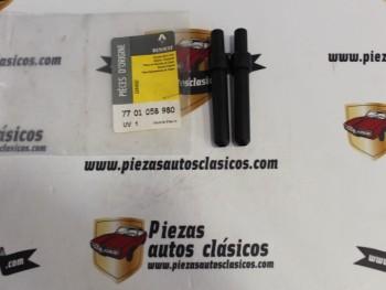 Par Soportes Plástico Sujeción Bandeja Trasera Renault Espace IV Ref 7701058980