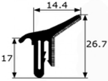 Tira 120cm Lamelunas Renault 5,6, 7,12 adaptable a otros coches