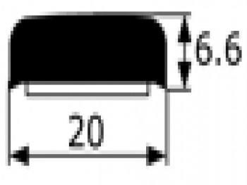 Moldura adesiva negra Renault 4 y 6 vendida por metros