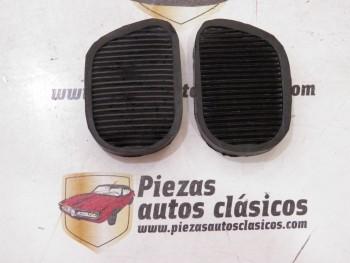 Pareja goma cubre pedales embrague / freno Seat 600