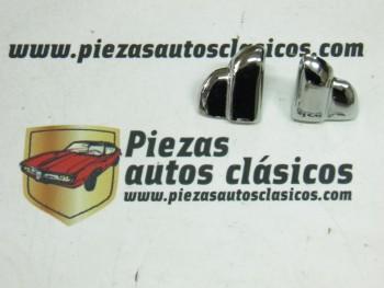 Pareja de terminales para moldura capot Renault 4CV - 4/4