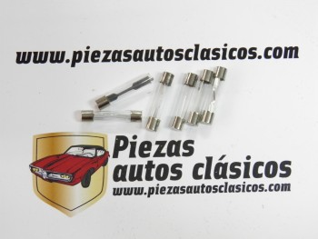 Kit 6 fusibles de vidrio 30mm. 1x8/10/15/20/25/30 Amperios