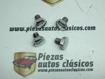 Lote 4 tornillos cromados para Tapacubos Citroën