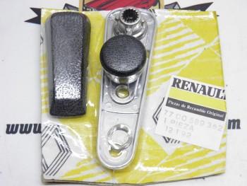 Maneta elevalunas metálica cromo-negro Renault 5, 7, 12, 20 REF:7700589362
