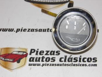 Reloj De Presión Aceite JAEGER Cromado Renault 4,5,6..., Citroën GS,Dodge....