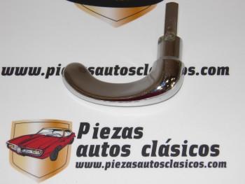 Manecilla Cromada Metálica Sin Cerradura Puerta Citroën 2 CV (Eje corto 25mm) Ref:CLÁUSOR 60-60