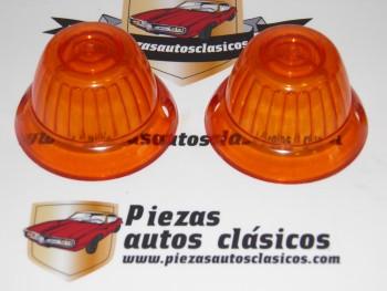 Pareja De Tulipas Ambar Piloto Intermitencia Redondo Techo Autocar Mercedes 1960 Ref:Yorka W-5665