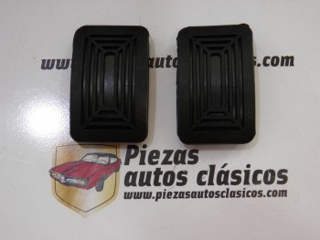 Pareja goma pedal (con dibujo original) Renault 4, 5, 6, 7, 8, 10, 12 Ref: 0606090800