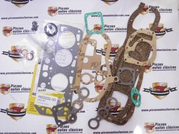 Juego de juntas completo motor Renault 4 CV, Dauphine, Ondine y Gordini
