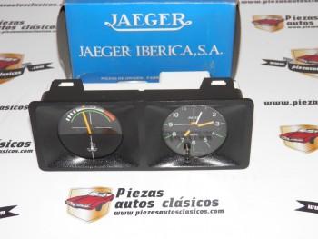 Conjunto Indicador Temperatura y Reloj Renault 14 Ref:JAEGER6487