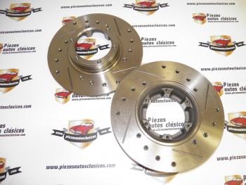Par De Discos De Freno Racing Renault 4,5,6,7,12 y 18