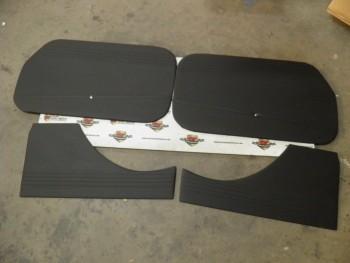 Juego 4 paneles tapizados negro Seat 600 D