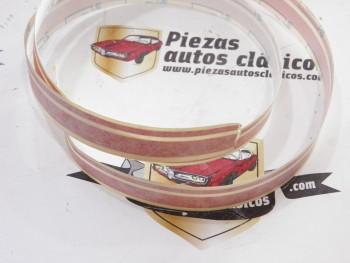 Moldura adhesiva roja 1mtr. Renault 11