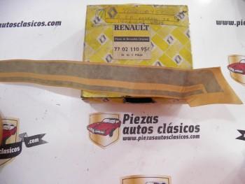 Moldura adhesiva verde lateral trasero izquierdo Renault 5 Ref: 7702110954