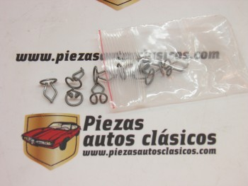 Kit 10 grapas 13mm tapizado/moldura Renault 4, 5, 6, 7..., Simca 1000 y 1200