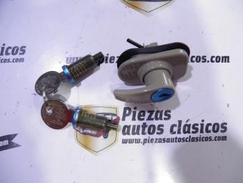 Kit Manilla de portón gris Renault 4 con 2 bombines