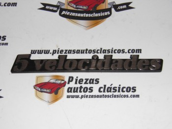 Anagrama Trasero 5 velocidades Renault Super 5, 9 y 11